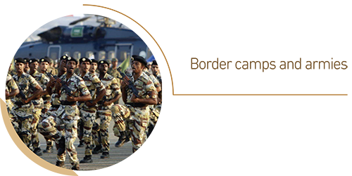 Border camps and armies