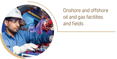Onshore and offshore oil and gas facilities and fields